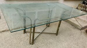 Big glass dinning table, 6x4 feet, Beveled edges, for Sale in San Diego, CA