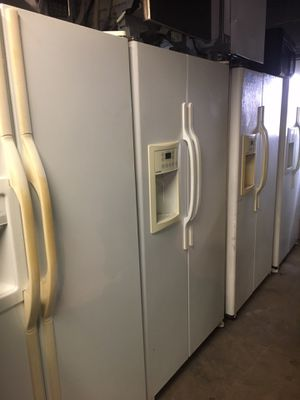 White side by side refrigerators/ 90 day Warranty for Sale in Durham, NC