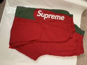 Supreme Side Logo Track Pants Medium IN HAND for Sale in Jurupa Valley, CA