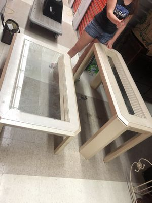 2 glass tables for Sale in Columbus, OH