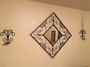 Mirror and candle sconces for Sale in Sanford, FL