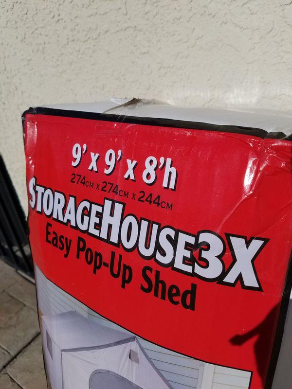 SHED, POP UP 9' x 9' x 8'