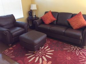 Macy's leather sofa for Sale in San Jose, CA