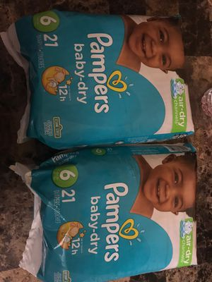 Pampers size 6. $6 each for Sale in Revere, MA