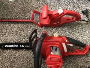 Homelite electric chainsaw and hedger for Sale in Bingham Canyon, UT