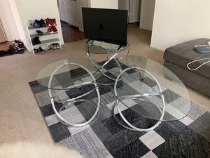 3 piece glass table set for Sale in Clovis, CA