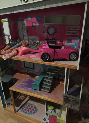 Doll house and car and furniture for Sale in Lakeside, CA