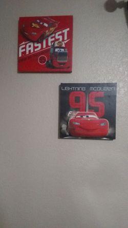 Lightening McQueen Bedroom Decor for Sale in Lakeland,  FL