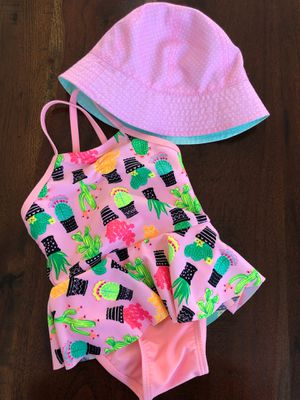 Baby Girl Swimsuit and SPF 50 swim hat for Sale in Elk Grove, CA