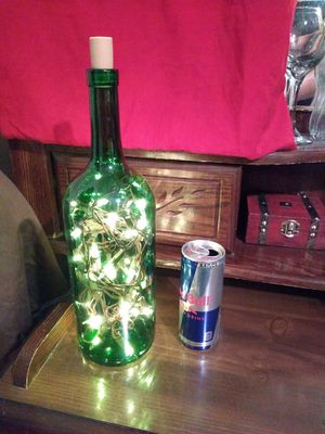 Basic style wine bottle mood lamps for Sale in Pompano Beach, FL