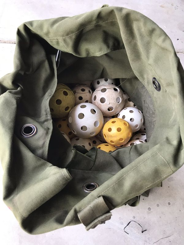 Huge duffle bag of whiffle balls!!!