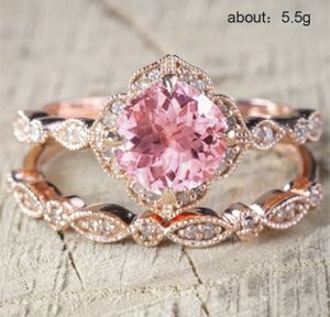 925 ROSEGOLD pink sapphire wedding ring size 9 for Sale in North Brunswick Township, NJ