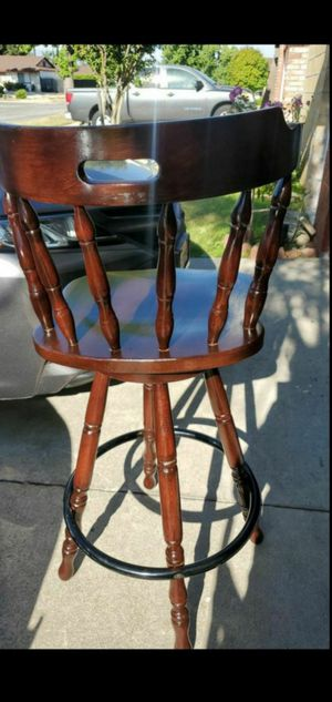 2 wooden stool used great condition for Sale in Fontana, CA