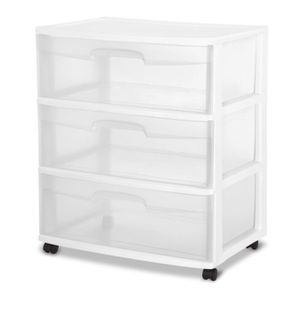 3 Plastic drawer ( white) $10 each for Sale in Hialeah, FL