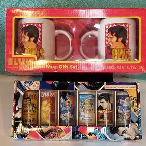 Collectable Elvis Presley Coffee Mug Set And Shot Glass Set for Sale in La Mirada, CA