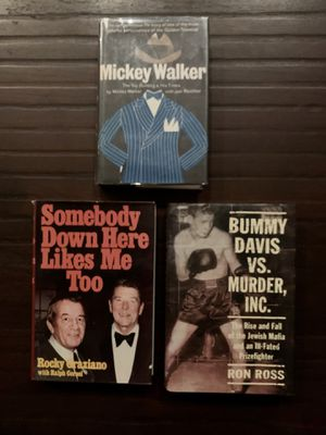 BOXING BOOKS!! 3 Rare Boxing Books! Learn about the older boxing days! All books is very good condition! for Sale in La Habra, CA