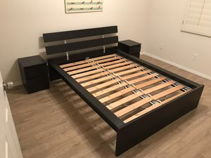 IKEA full bed and nightstands for Sale in Tempe, AZ