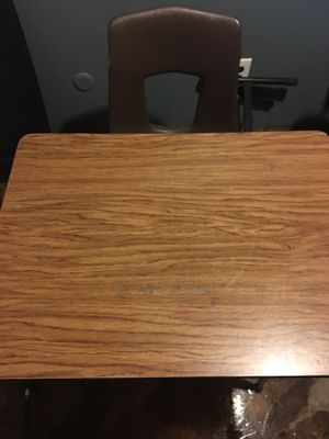 Vintage school desk and chair for Sale in Southfield, MI