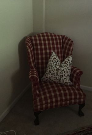 Checkered wingback chair $50 obo for Sale in Fort Washington, MD