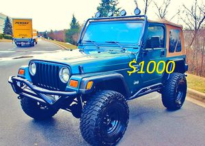 I sell urgent 2000 Jeep Wrangler TJ-$1000 for Sale in Garrison, MD