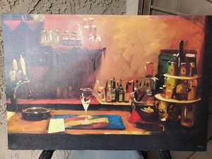 3' x 4' canvas bar painting for Sale in Corona, CA