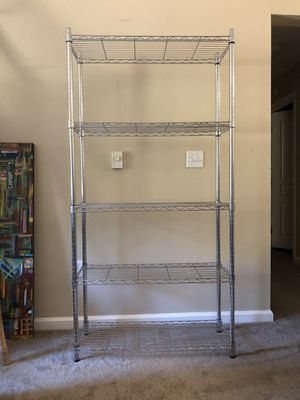Paid $129 + tax Supreme 5 Tier Adjustable Shelves for Sale in Palo Alto, CA