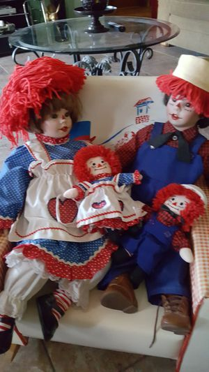 Raggedy Ann and Andy porcelain dolls for Sale in Phoenix, AZ