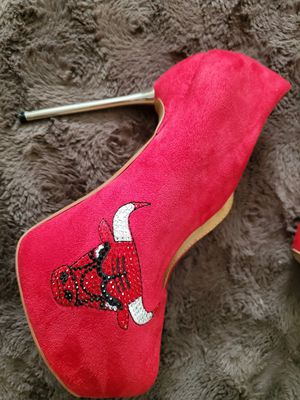 Chicago bulls heels for Sale in Virginia Beach, VA