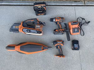 RIGID Power Tools 18v Drill, sander, cordless for Sale in Mission Viejo, CA