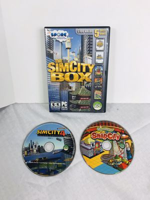 Sim City 4 Deluxe Edition & Sims Carnival SnapCity PC Games Lot for Sale in Pawtucket, RI