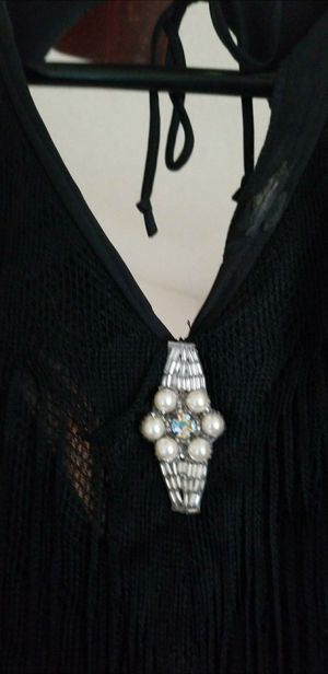 BLACK FRINGE 1950'S PROM FORMAL DRESS for Sale in Shawnee, KS