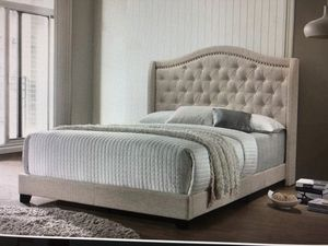 Full queen or king upholstered bed frames for Sale in West Pittston, PA