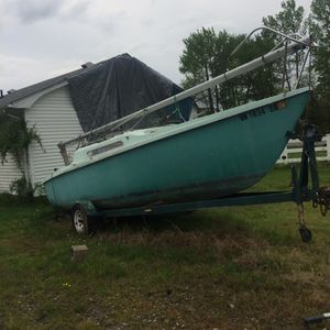 Large sailboat with new sail and three person cabin for Sale in Fredericksburg, VA