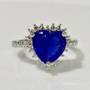14k white gold plated heart ring for Sale in Silver Spring, MD