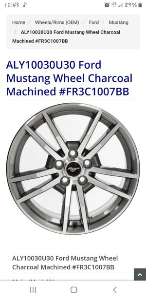 "2016 Ford Mustang GT 18"" stock rims and tires for Sale in Princeton, WV"