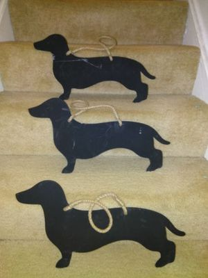 Set of 3 Dachshund Chalkboards for Sale in Springfield, VA