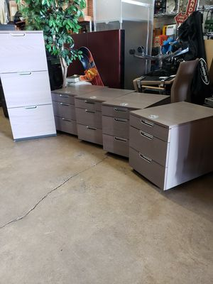 Combination locking 3 drawer file cabinet and for locking cabinets all five pieces $250 firm for Sale in MONTGOMRY VLG, MD