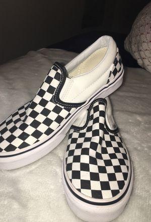 Slip on checkerboard vans for Sale in Harrisonburg, VA