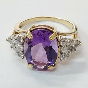 Amethyst Diamond Ring With Certificate 💜💍 for Sale in Lemon Grove, CA