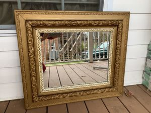 Antique mirror with gold frame for Sale in Richmond, VA