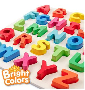 Coogam Wooden Alphabet Puzzle – Letters Peg Board Sorting ABC Blocks Matching Game Montessori Jigsaw Early Learning Educational Toy Gift for 1 2 3 Ye for Sale in San Gabriel, CA