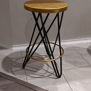 Counter Stool Gold / Black for Sale in Austin, TX