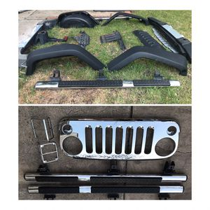 Jeep Wrangler OEM chrome package with OEM fenders for Sale in Carrollton, TX
