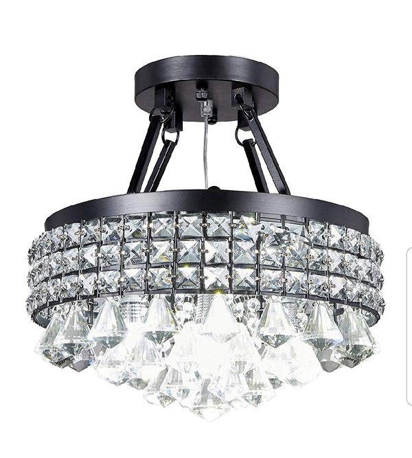 Chrystal chandelier light fixture