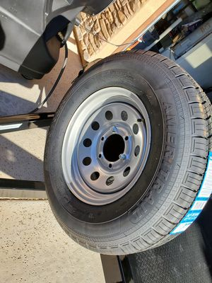 5 Brand new trailer tires and wheels, 6x5.5 225/75r15 for Sale in Sun City, AZ