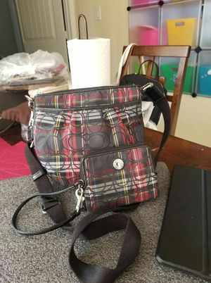 Authentic Coach tartan small crossbody purse and wrislet wallet bundle for Sale in Lincoln Acres, CA