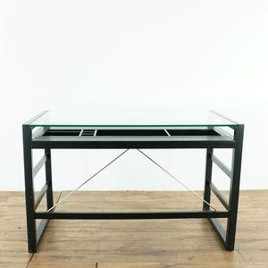 Crate & Barrel Contemporary Glass Top Wood Desk (1022080) for Sale in South San Francisco, CA