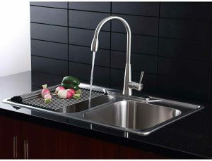 AFA Stainless Afa Solid Stainless All-in-one 33 In. Sink & Semi Pro Faucet Combo Af1rh33229te for Sale in Dallas, TX