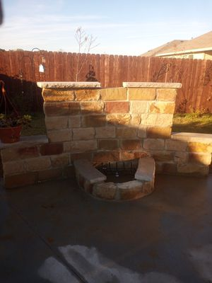 Firepit wall ( in process) for Sale in Fort Worth, TX