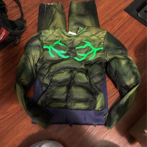 Increíble Hulk Halloween Costume Size 4/5 Kids for Sale in Los Angeles, CA